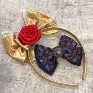 Beauty and the Beast Headband & Bow Set